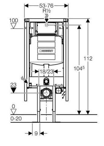 Stelaz Podtynkowy Geberit Duofix 76 Cm Do Wc Narozny Up320 Sigma